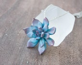 Blue Succulent Pendant Wholesale Succulent Plants Pendant Arrangement Succulent Jewelry Jewellery Birthday Bridal Wedding Gifts