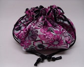 Flower jewelry pouch