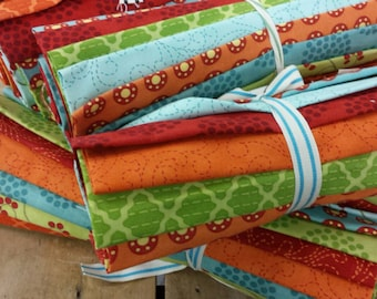 Bobbins & Bits 12 FQ pack by Pat Sloan for moda fabrics