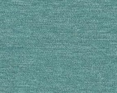 """Timeless Classic Chenille Upholstery Fabric - Durable - Washable - Soft hand - 56"""" wide - Polyester/Viscose - Color: Turquoise - Per Yard"""