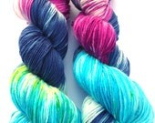 Fine Merino Socks hand dyed yarn hand painted sock yarn: Summer Feeling