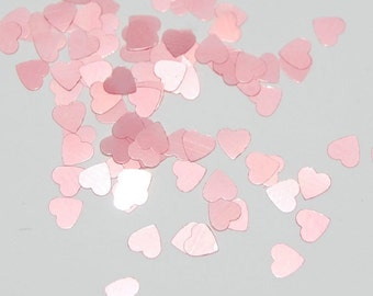 Light Pink SOLVENT RESISTANT GLITTER Hearts - 1 Fl. Ounce for Glitter Nail Art, Glitter Nail Polish  & Glitter Crafts