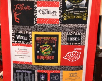 Customized T-shirt quilt - Memory Quilt