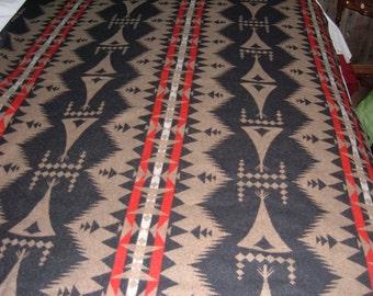 "102"" x 64"" Piece of Pendleton Reversible Blanket Weight  Wool Fabric-Southwest Pattern"