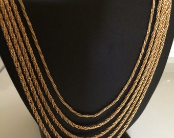 Vintage 5 Layer Swag Chain Necklace