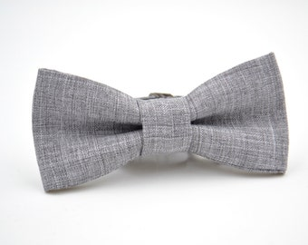 Bowtie Boys in Light Gray Suiting Material