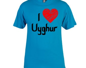 I Heart Uyghur Tee Choose Size and Color