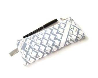 Pencil Pouch - Keyboard Pencil Pouch - Back to School -  Gift for Geek - Gift for Grad - Gift Under 15