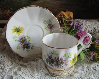 October Teacup and Saucer  Birthday Flower of the Month