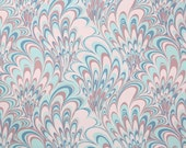 Retro Wallpaper by the Yard 70s Vintage Wallpaper - 1970s Pink and Blue Marble Swirls