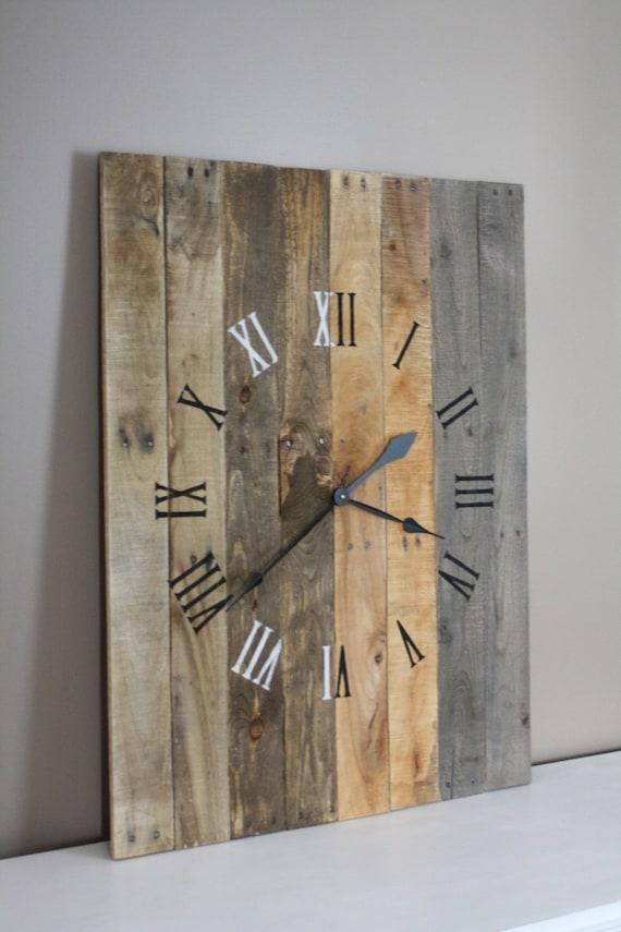 Large Rustic Modern Farmhouse Clock Rectangular 36 By