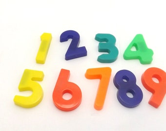 Alphabet magnets magnetic refrigerator Numbers  Vintage Educational toys 1-9