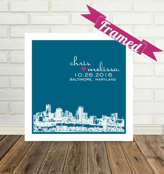 Wedding Gifts For Guests New Zealand : Wedding Gift for Bride and Groom City Skyline Gift for Bride Gift ...