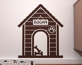 FALL SALE - Personalized Indoor Dog House  Wall Decal - Custom Doggie Decor - FREE Shipping!