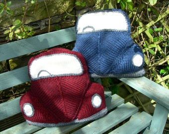 PDF Knitting Pattern for a 3D Bug Cushion ( based on the classic VW Beetle )