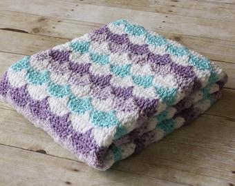 Crochet Baby Blanket, Shell Blanket, Seashell Baby Blanket, Boy Baby Blanket, Girl Baby Blanket, Colorful Baby Blanket, Baby Shower Gift
