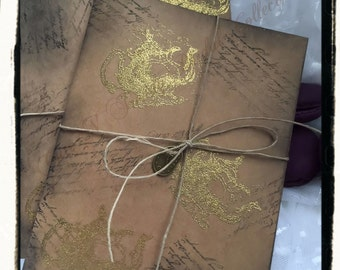 SAMPLE ONLY Alice In wonderland vintage Inspired/ tea time / Embossed wedding invitation suite