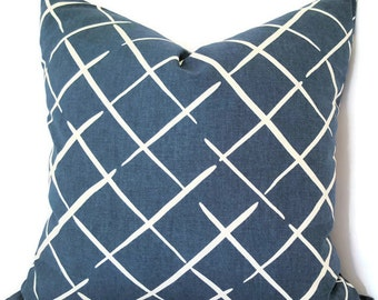 Indigo Pillow - Indigo Decorative Pillow - Blue and White Pillow - Indigo Pillow - Navy Throw Pillow - Navy Lumbar Pillow - Square Pillow
