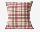 RESERVED FOR Mary Beth/Burgundy Plaid Pillow Cover, Burgundy, Plaid Pillow Covers, DecorativePillows, Home Decor, 16x16 Pillows Covers