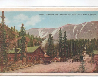 "Colorado, Vintage Postcard,""Glencove Inn, Halfway Up Pikes Peak Auto Highway,""  1920s, #785"