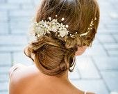 Handmade Bridal hair accessories NYC. Couture bridal hair accessory. Floral hair accessory. Handmade jewelry weddings. Bride look NYC