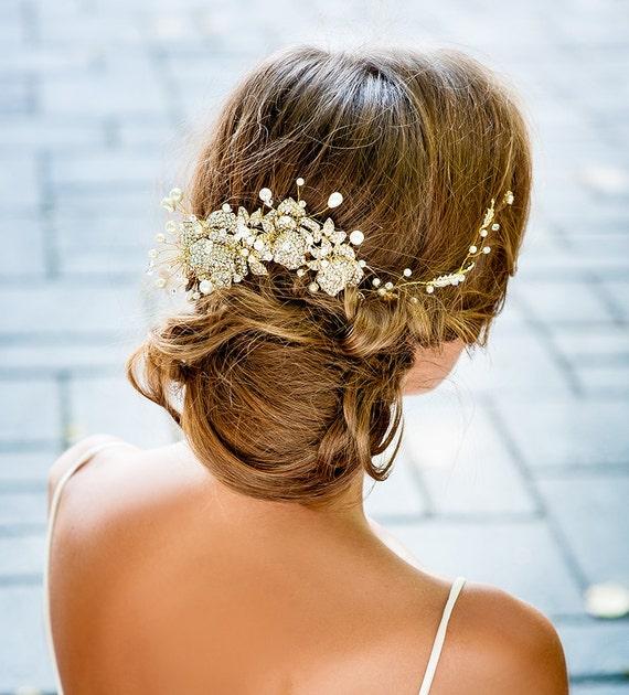 Handmade Bridal hair accessories NYC. Couture bridal hair - photo #11