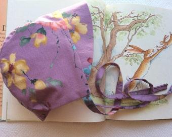 Brimmed Baby Bonnet, Baby Bonnet, Child's Bonnet, Vintage Cotton Bonnet, Bonnet, Old Fashioned Baby Bonnet