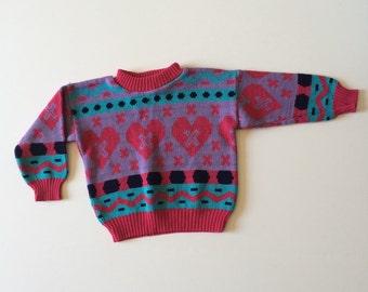 1980's X Heart X Sweater (3t)