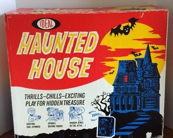 Sale RARE Ideal 1962 Haunted House Board Game Complete Free Shipping