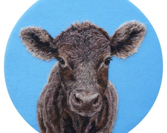 Chocolate Cow Art Print - High Quality Giclee Print - 5x7, 8x10 & 11x14