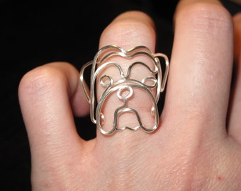 Wire Wrapped English Bulldog Ring MADE to ORDER