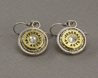 Choice 45 Auto Bullet Earrings-Winchester 45 Auto Earrings-Federal 45 Auto Earrings-R-P 45 Auto-Speer 45-Blazer 45 Auto-Swarovski Elements