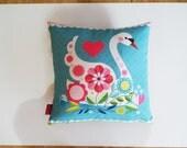 Ellen Giggenbach, Romantic swan print, cushion, pillow cover