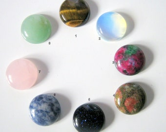 Round Stone Cabochon - You choice Stone 16x6mm, Jewelry Making
