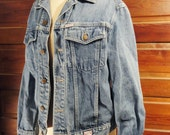 Guess Jean Jacket 1980s Faded Denim Jacket Medium Georges Marciano