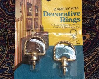 Sale 4.00 orig. 6.00 Vintage decorative rings set of 2 per package