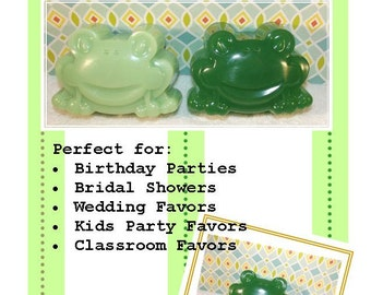 Large Frog Soap, 10 Frog Soaps, Glycerin Soap, Froggy Soap, Baby Shower Soap, Birthday Soap Favor