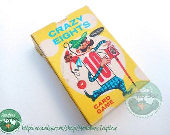 Vintage Crazy Eights Card Game by Whitman Incomplete Deck 1951