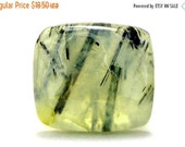 Prehnite Cabochon Stone (25mm x 22mm x 7mm) 40.5cts - Rectangle Cabochon