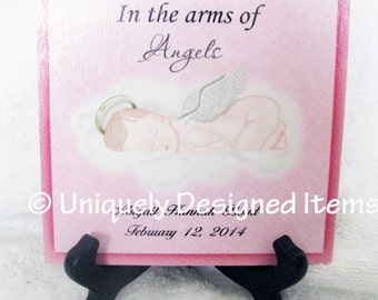 Miscarriage Memorial - Miscarriage Remembrance Gift - Miscarriage Keepsake - Miscarriage Gift  -- in all colors with many angel babies