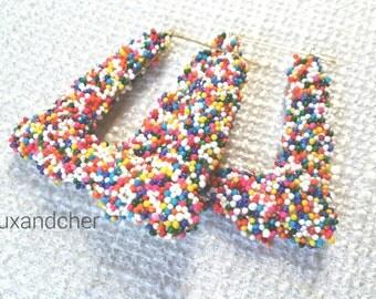 Doorknocker Bamboo Earrings, 90s Earrings, Bamboo Hoops, Statement Earrings, Big Bold Earrings, Birthday Outfit, Popular Earrings, Birthday