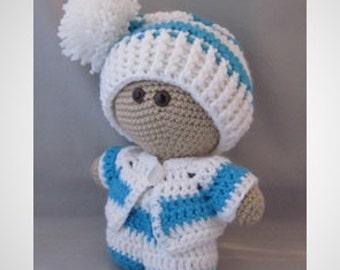 Crochet Amigurumi Baby Doll with colorful outfit, Super cute, Cuddly Baby Doll, Soft Toy, Waldorf Doll, Stuffed Doll, Rag  Doll