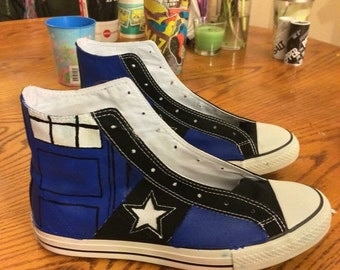 Custom Doctor Who High-Top Converse