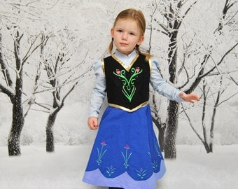 Anna's Adventure Dress - Sizes 2T, 3T, 4T, 5, 6, 7, 8, and 10