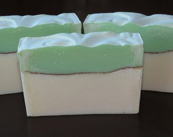 Rosemary Mint Scented Luxury Cold Process Rustic Soap with Shea Butter - Palm Free