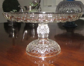 Atlanta Antique Cake stand Rum well Royal Crystal Diamond tear drop  Cake stand /Dessert stand ,charming,Shabby Chic,tabletop,EAPG 1894