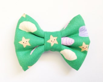 The Shells and Starfish Handmade Bow (Handmade Bow / Bow Tie / or Headband)