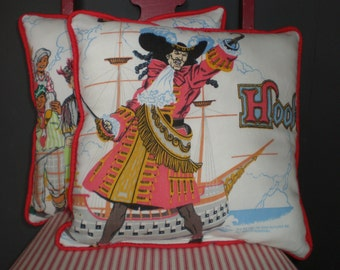 Vintage Upcycled Hook Pillows