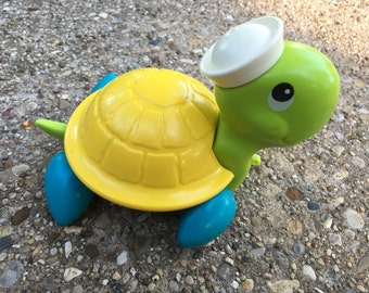 Vintage Fisher Price Tag Along Turtle 1977 #644