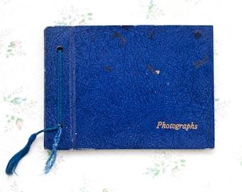 Small Photo Album in Deep Blue - Antique Album - Scrapbooking